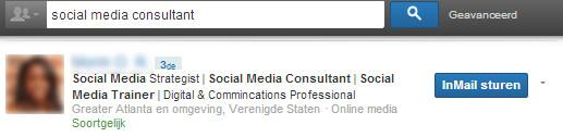 Linkedin headline: voorbeeld social media consultant
