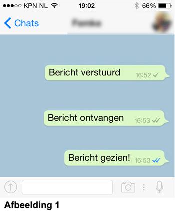 Betekenis grijze en blauwe WhatsApp vinkjes