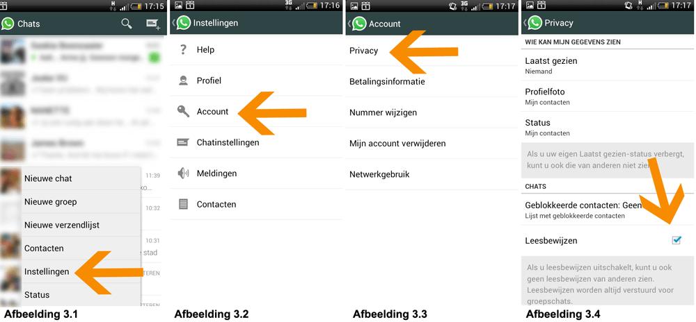 Blauwe vinkjes WhatsApp uitzetten - Handleiding voor Android