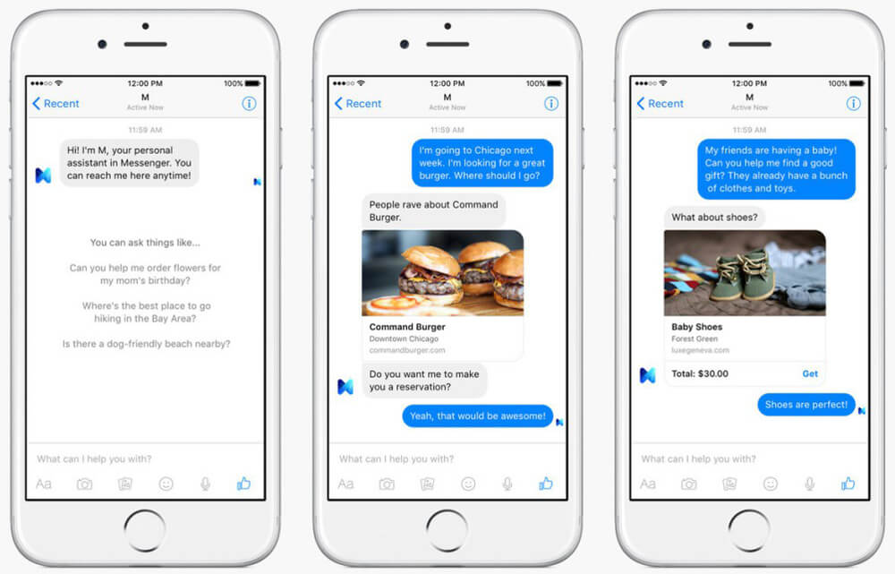 Digitale Assistent M - Facebook Messenger
