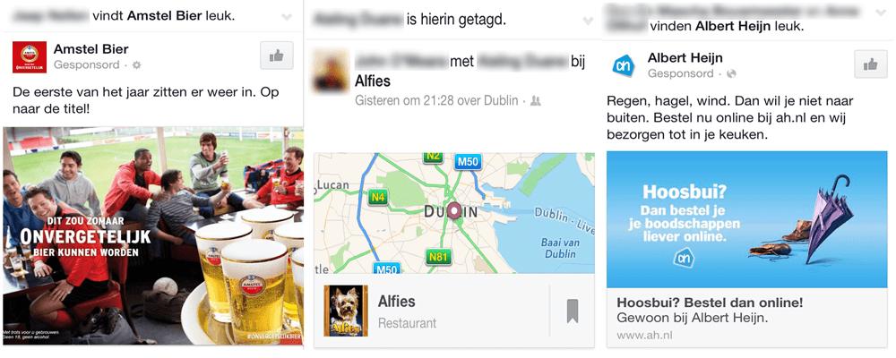 Facebook profiel - jouw naam in advertenties