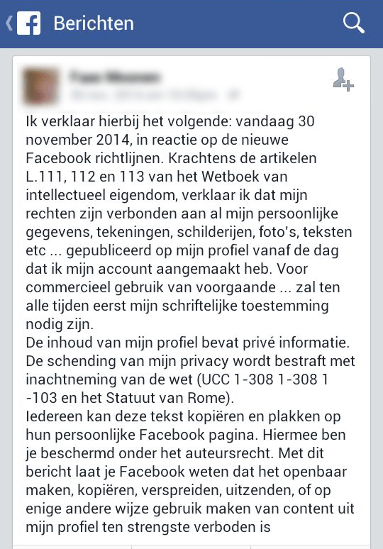 Facebook verklaring - profielfoto en naam in advertenties