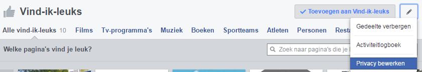 Facebook vind ik leuk privacy instellingen