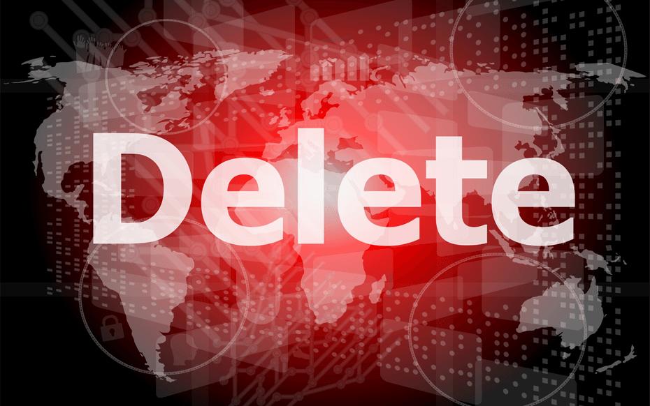 Geschiedenis verwijderen van het internet