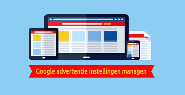 Google advertentie instellingen