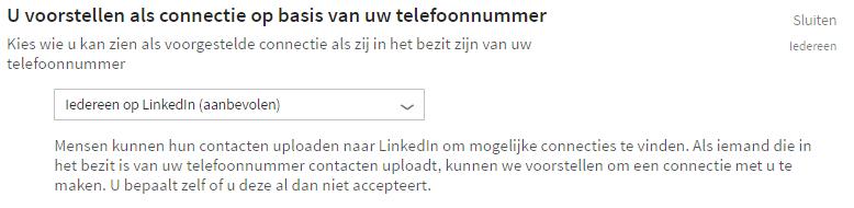 Handleiding LinkedIn - Connecties op basis van telefoonnummer