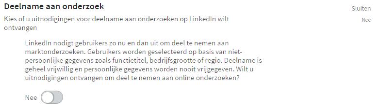 Handleiding LinkedIn - Deelname aan onderzoek