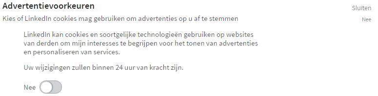 Handleiding LinkedIn privacy instellingen - Advertentievoorkeuren