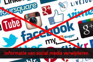 Informatie van social media verwijderen - Takedown notice