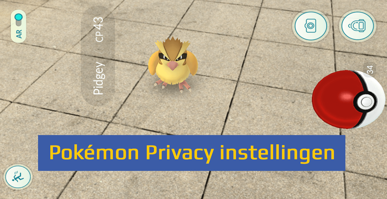 Privacy instellingen Pokémon Go header 1