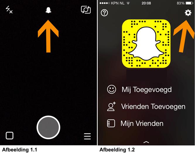 Privacy instellingen Snapchat - Snapchat app