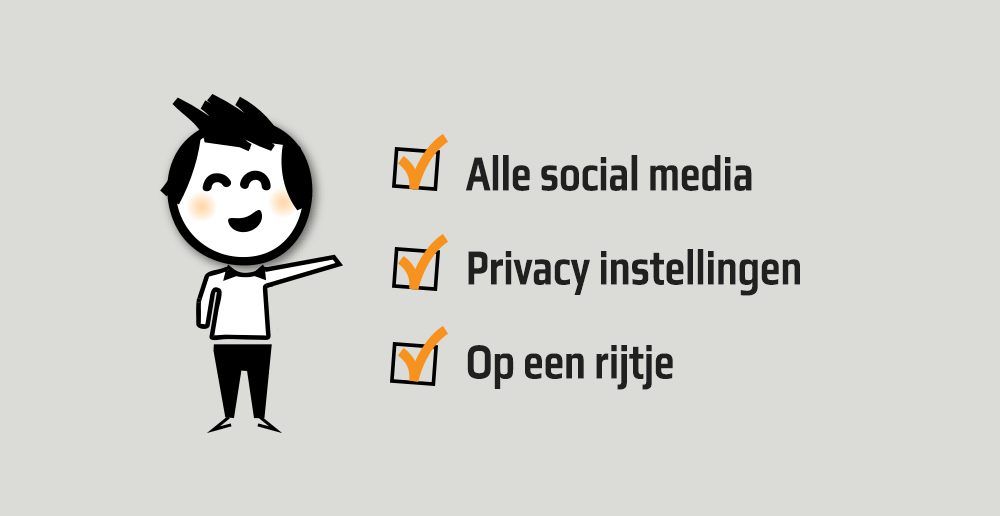 Privacy instellingen Social media - Social media privacy