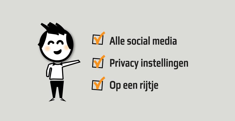 Privacy instellingen Social media - Social media privacy