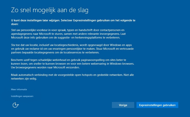 Privacy instellingen windows 10 - instellingen aanpassen