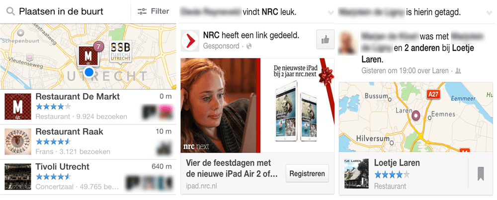 Profielfoto en naam in Facebook advertenties