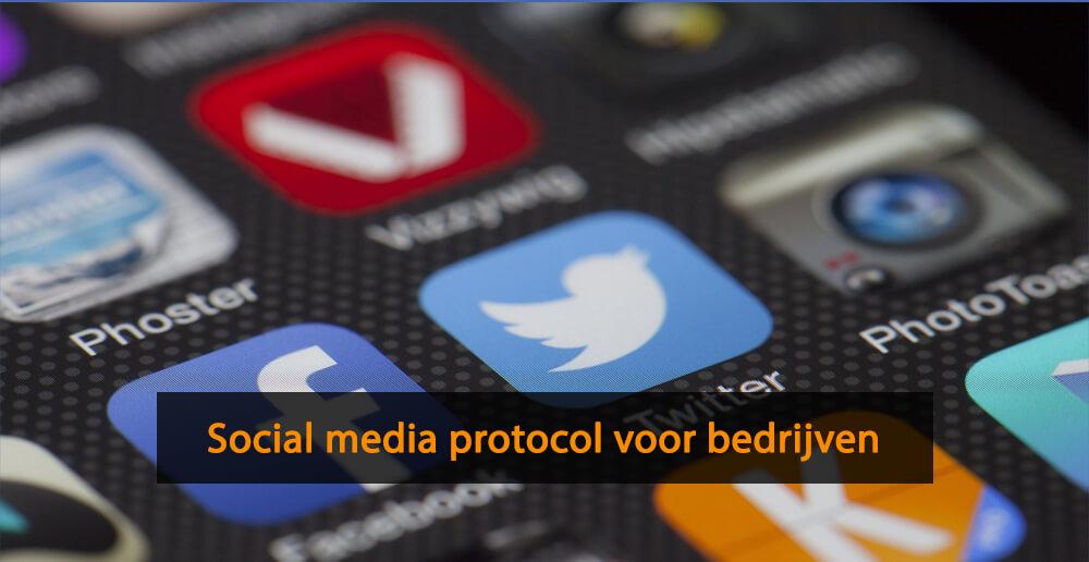 Social media protocol bedrijven - social media protocollen