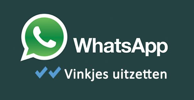 Blauwe vinkjes WhatsApp uitzetten