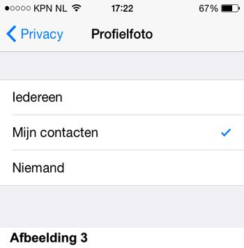 Privacy instellingen - Profielfoto