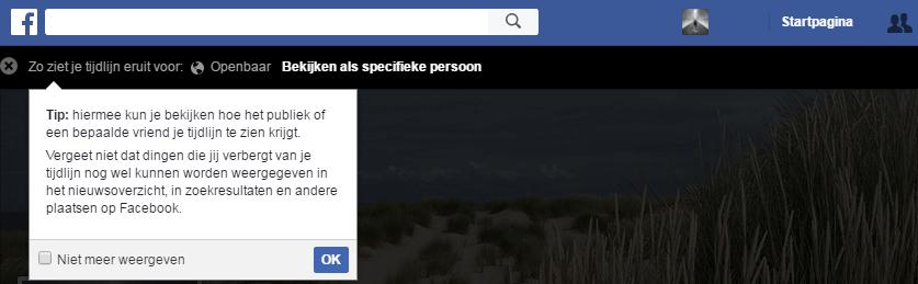 Zo ziet jouw Facebook tijdlijn eruit voor anderen - Facebook privacy